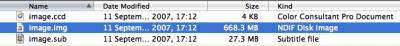 Clone CD img ccd sub files