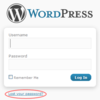 Lost your password in WordPress?