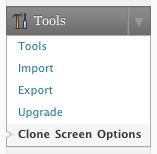 fv clone screen options usage 1