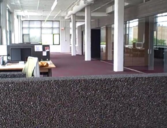strange styrofoam like material 37signals office