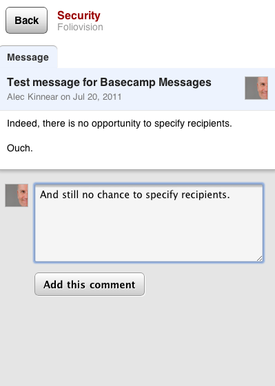 Basecamp mobile comment notifications
