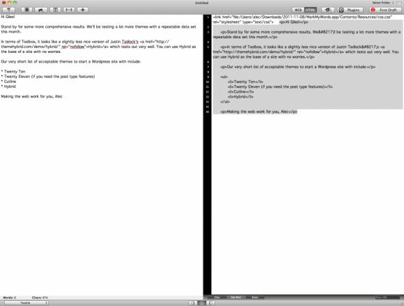 MarkMyWords edit window