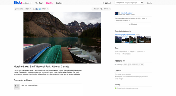 Flickr License Case Study Screenshot