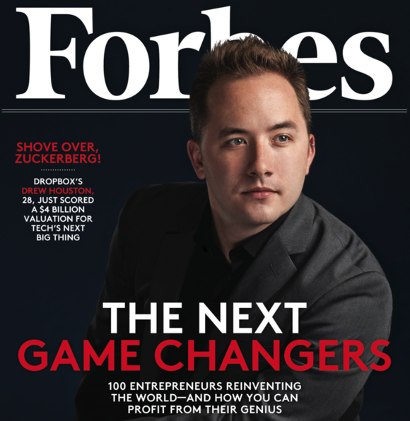dropbox drew houston