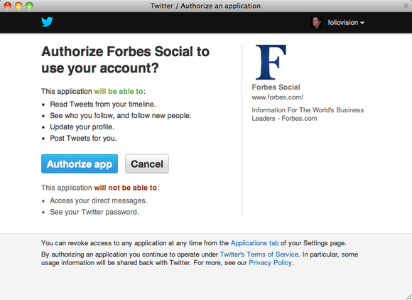 forbes asking for too much twitter access