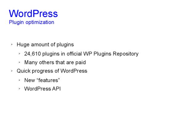 Speed optimization of WordPress 13