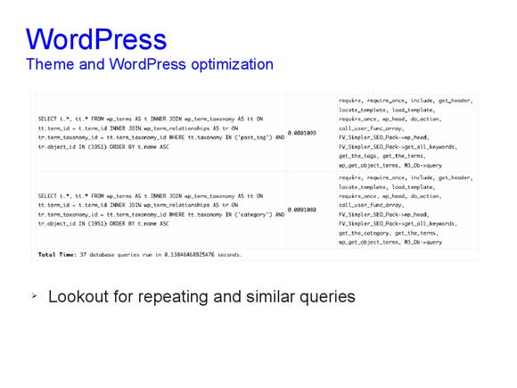 Speed optimization of WordPress 16