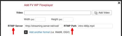 fv flowplater rtmp filled in
