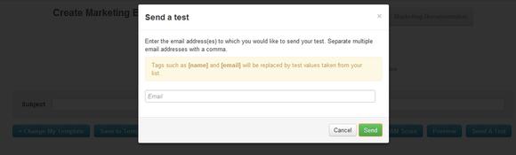 sending a test