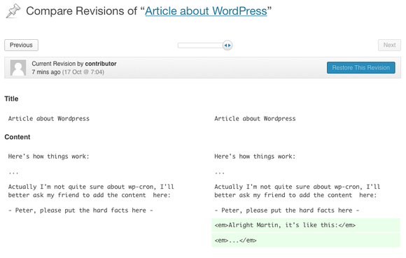 wp 36 article revisions
