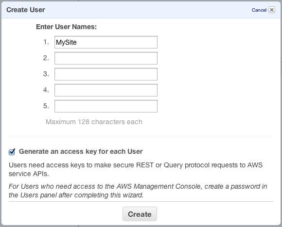 amazon iam create user