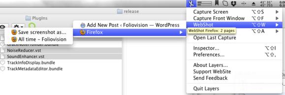 Layers menubar interface