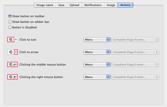 Screengrab for Firefox preferences