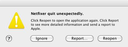 Netfixer quit