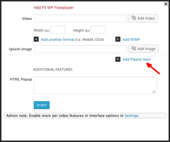 fv flowplayer playlist add item