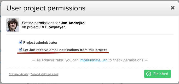 teamworkpm project permissions administrator