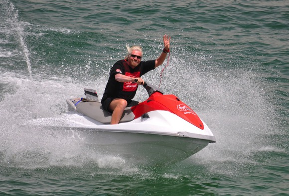 richard branson jet skiing