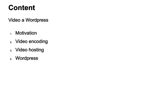 video wordpress content