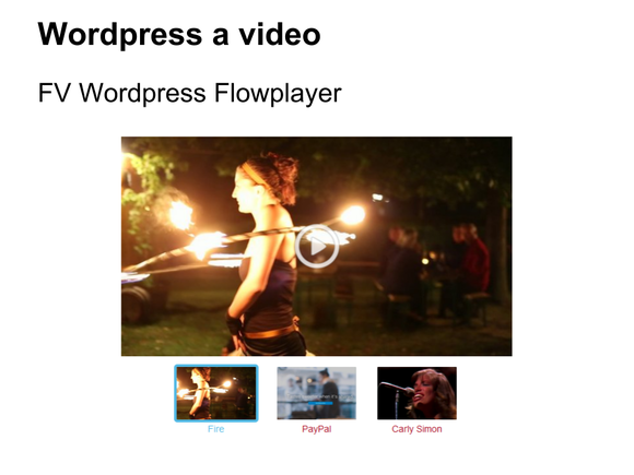 video wordpress fv flowplayer