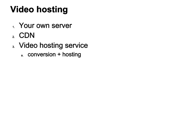 video wordpress hosting