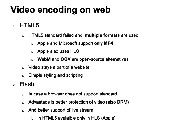 video wordpress video formats for web