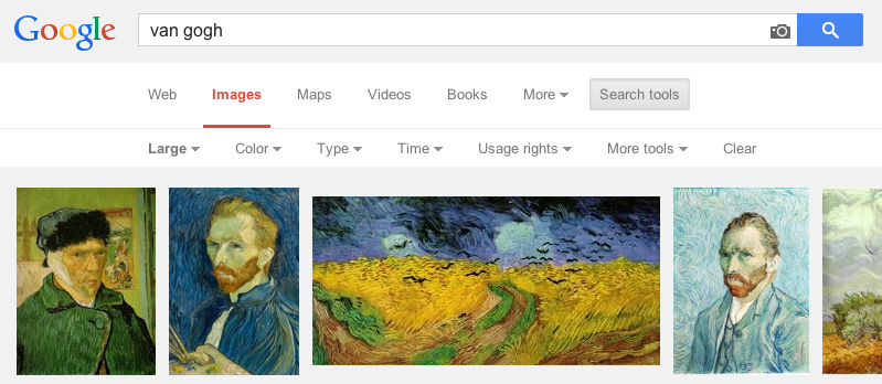 how to google search images large