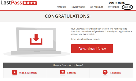 Log In to Your New LastPass Account