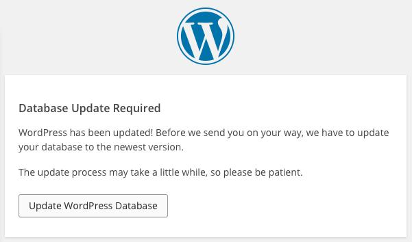 wordpres 4 2 db upgrade