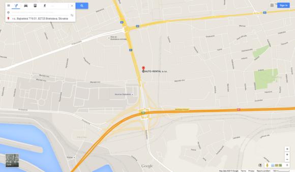 auto rental map