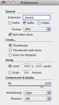 A very simple utilitarian preferences interface. After that it's just drag and drop. No presets though.