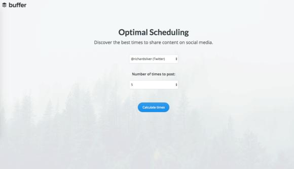 Buffer Optimal Scheduling Tool Settings