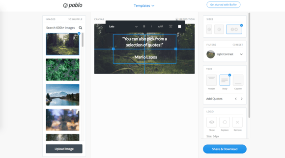 Create beautiful visuals with Buffer's Pablo