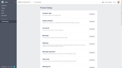 Facebook app added