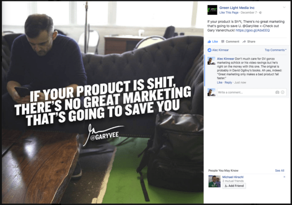 Gary Vaynerchuk: If your product is shit, there's no great marketing that's going to save you.