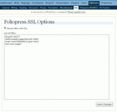 foliopress ssl options